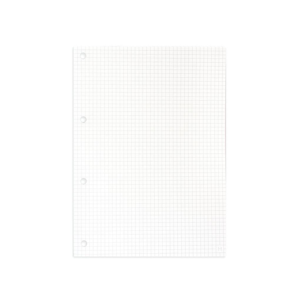 Kit Bloco NALÍ p/ Fichário A4 90g/m2 c/ 80 Folhas (Pautado, Pontilhado, Quadriculado e Sem pauta)