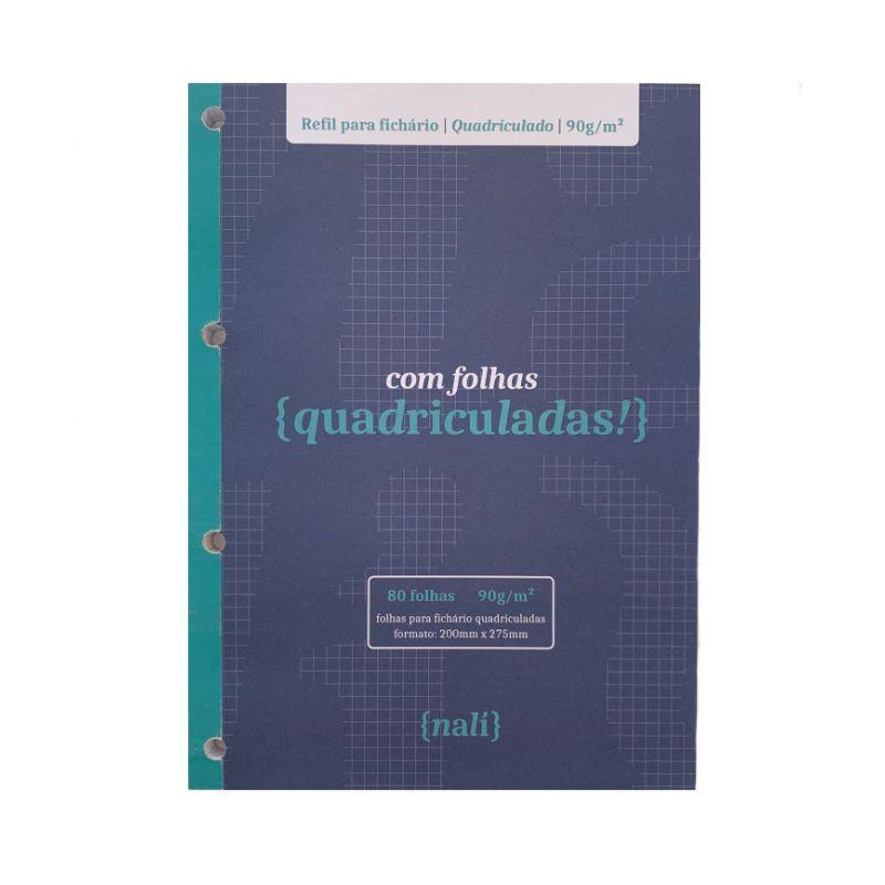 Kit Bloco NALÍ p/ Fichário A4 90g/m2 (Pautado, Pontilhado e Quadriculado)