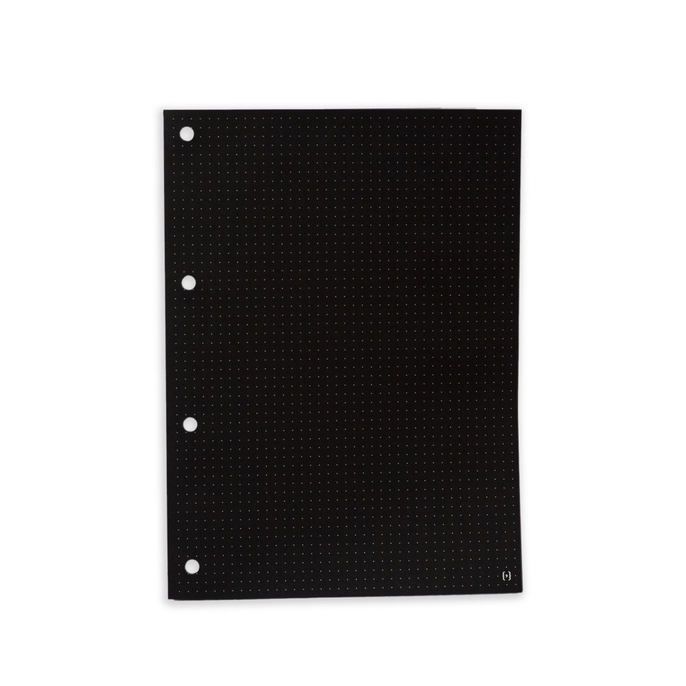 Kit Bloco NALÍ Preto p/ Fichário A4 80g/m2 c/ 30 Folhas (Pautado, Pontilhado e Quadriculado)