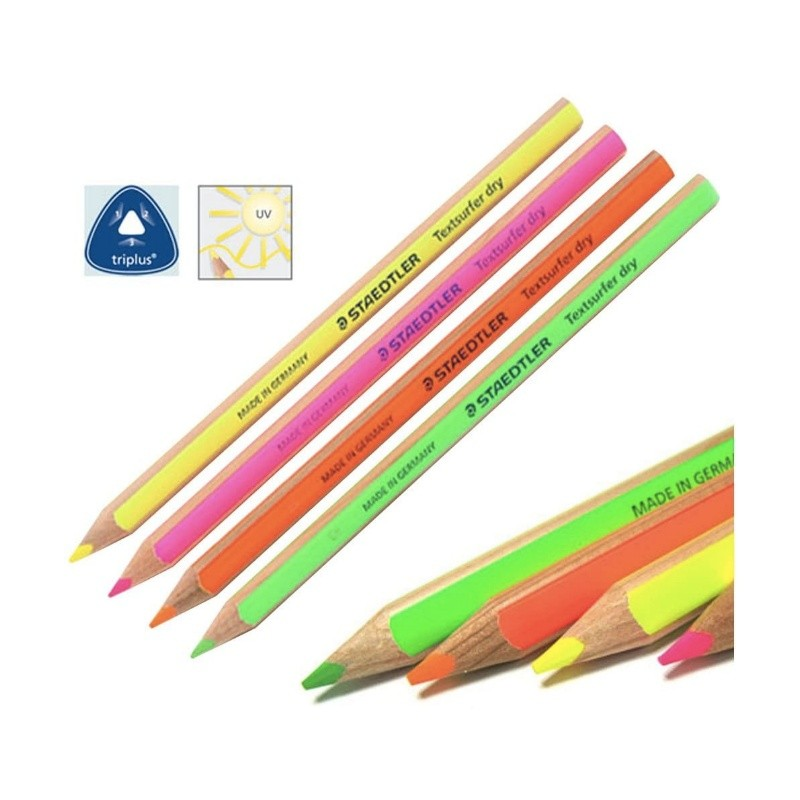 Kit Lápis Marca Texto Dry STAEDTLER c/ 4 Cores