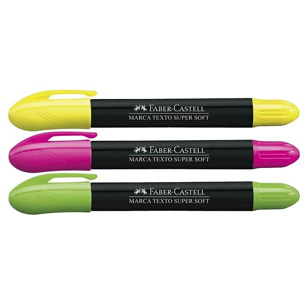 Kit Marca Texto Gel FABER-CASTELL c/ 3 Unids