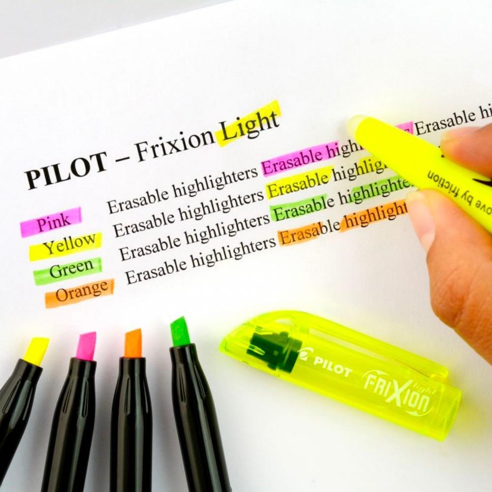 Kit Marca Texto PILOT Frixion c/ 12 Unids (6 Normais + 6 Pastel)