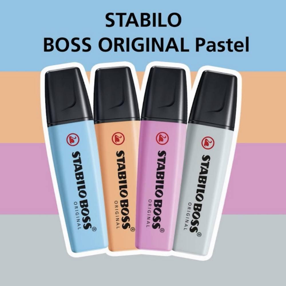 Kit Marca Texto STABILO Boss Pastel c/ 8 unds - Novas Cores (PRÉ-VENDA)