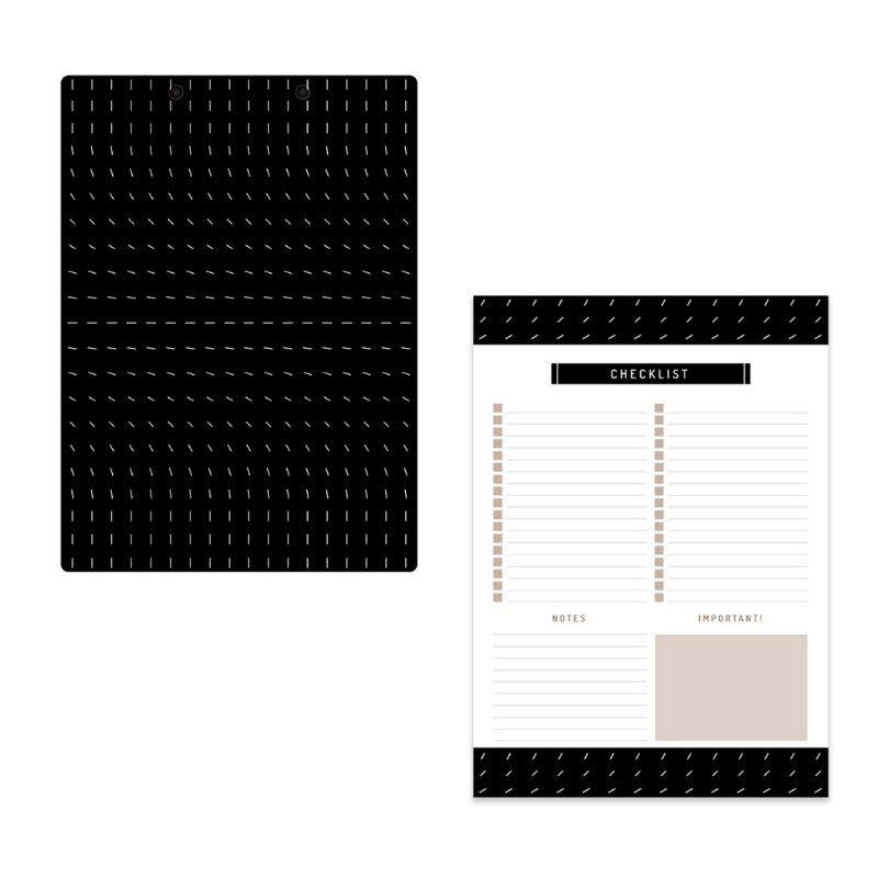 Kit ÓTIMA Prancheta + Bloco Checklist Noir