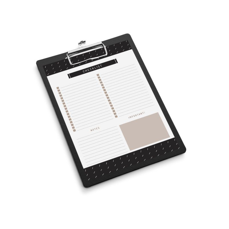 Kit ÓTIMA Prancheta + Bloco Checklist Noir (Traço)
