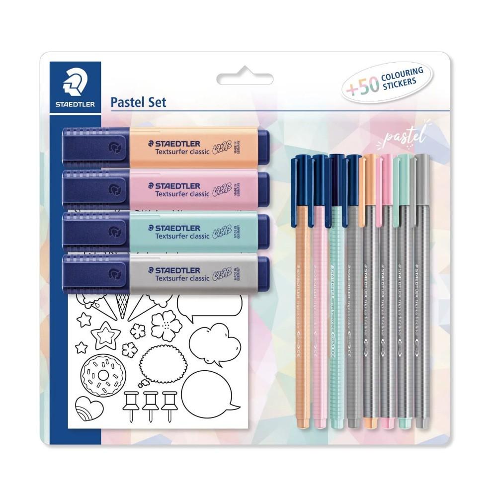 Kit STAEDTLER Pastel Set c/ Adesivos