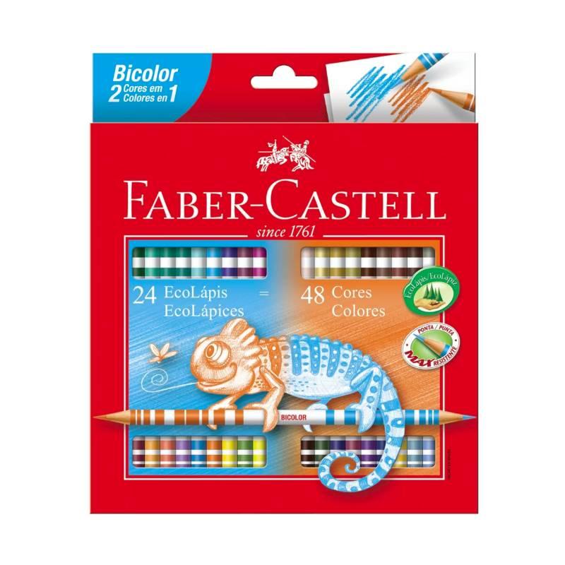 Lápis de cor FABER-CASTELL Bicolor 24 Unds / 48 Cores