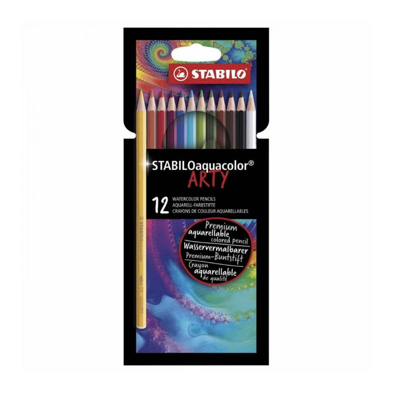 Lápis de Cor STABILO Aquacolor Arty c/ 12 Cores