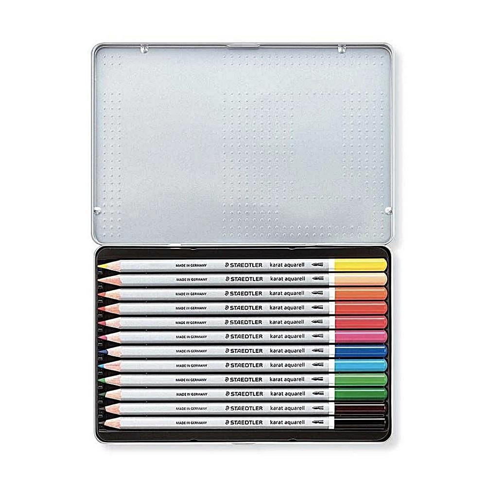 Lápis de Cor STAEDTLER Aquarelável Karat c/  12 Cores