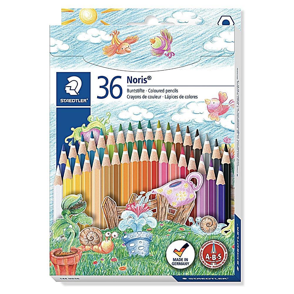 Lápis de Cor STAEDTLER Noris Club Aquarelável  c/ 36 Cores + 1 Pincel