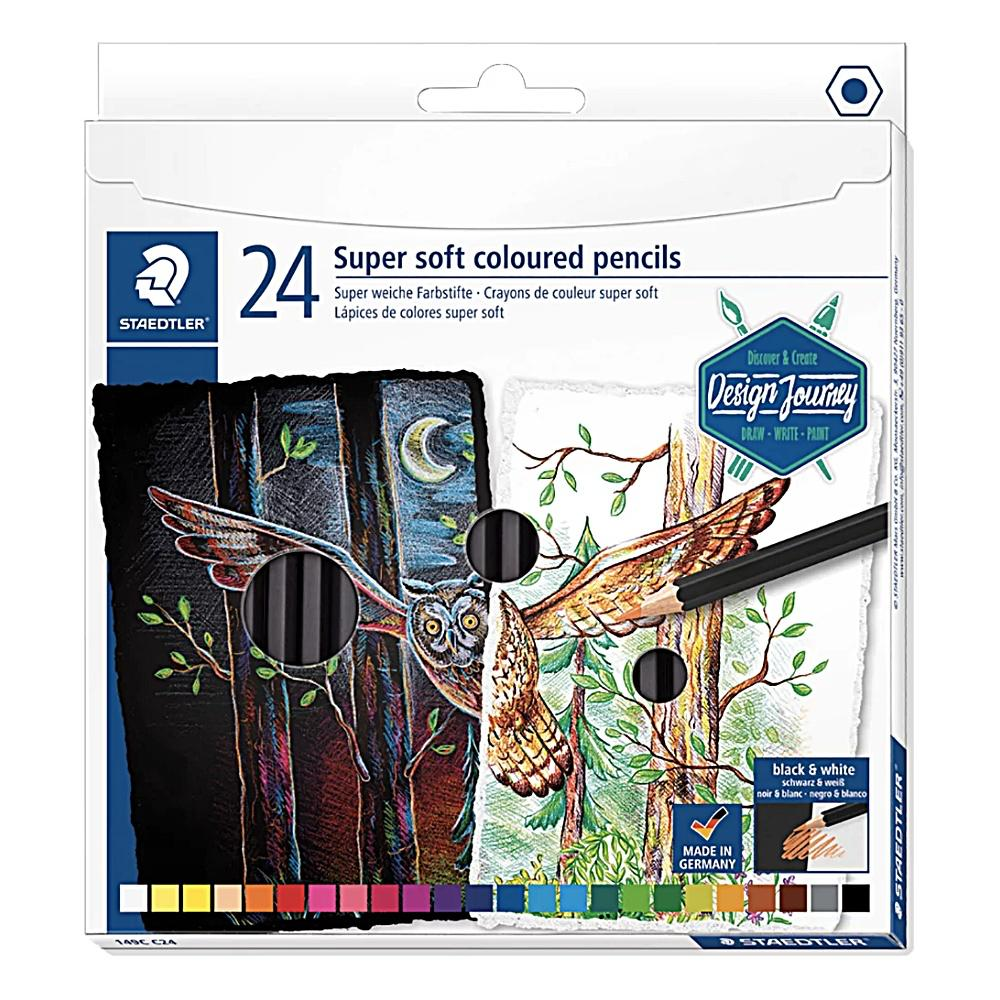 Lápis de Cor STAEDTLER Super Soft  c/ 24 Cores