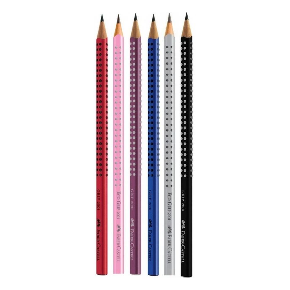 Lápis Preto FABER-CASTELL Eco Grip Nº 2 = B