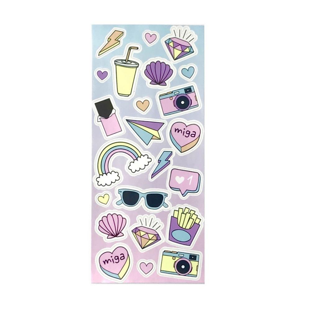 Marca-texto NEWPEN by Uatt? c/ 6 Cores Pastel + Stickers