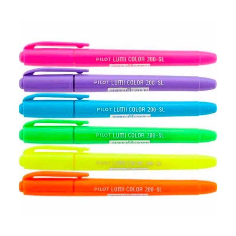 Marca Texto PILOT Lumi Color Soft (Neon) Estojo c/ 6 Unds