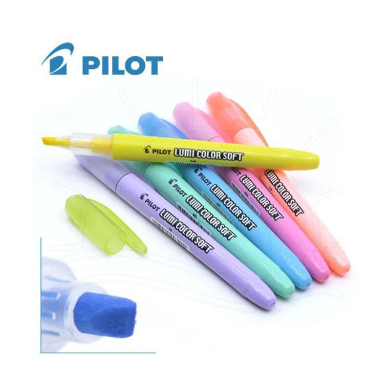 Marca Texto PILOT Lumi Color Soft (Pastel) Estojo c/ 6 Unds