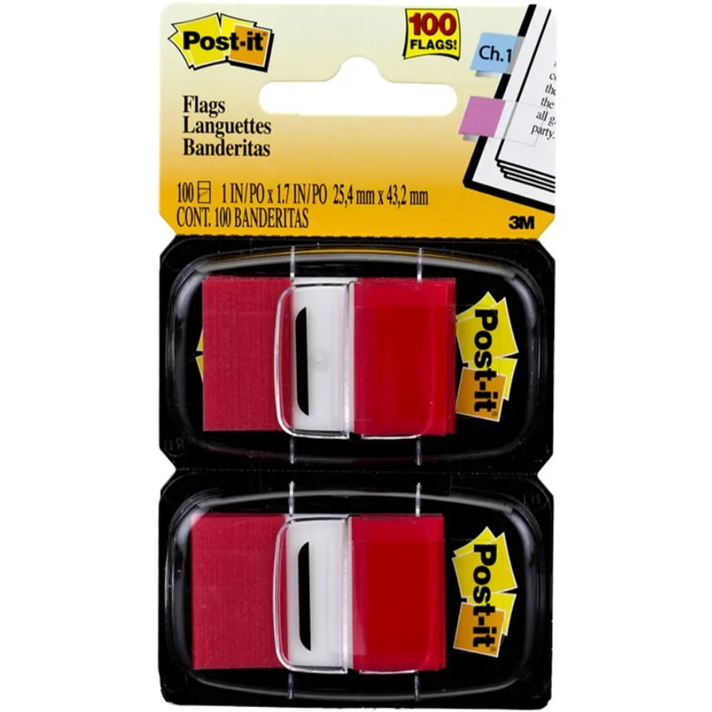 Marcador adesivo de páginas Flags Post-It® 3M 25,4 mm x 43,2 mm
