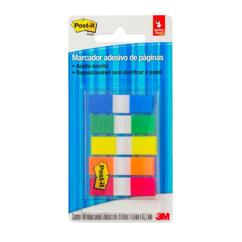 Marcador adesivo de Páginas Post-It® 3M 11,9x43,2 mm
