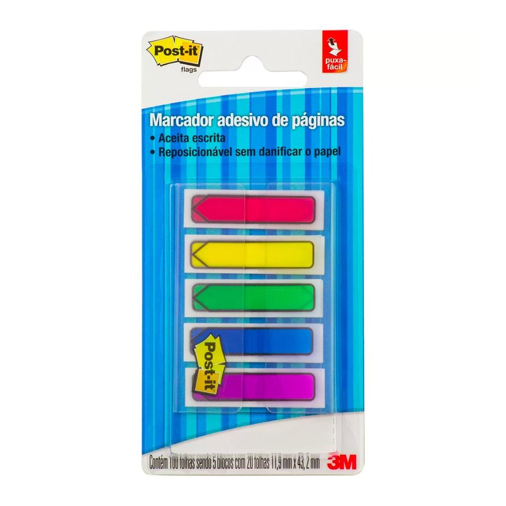 Marcador adesivo de páginas seta Post-It® 3M 11,9 mm x 43,2 mm