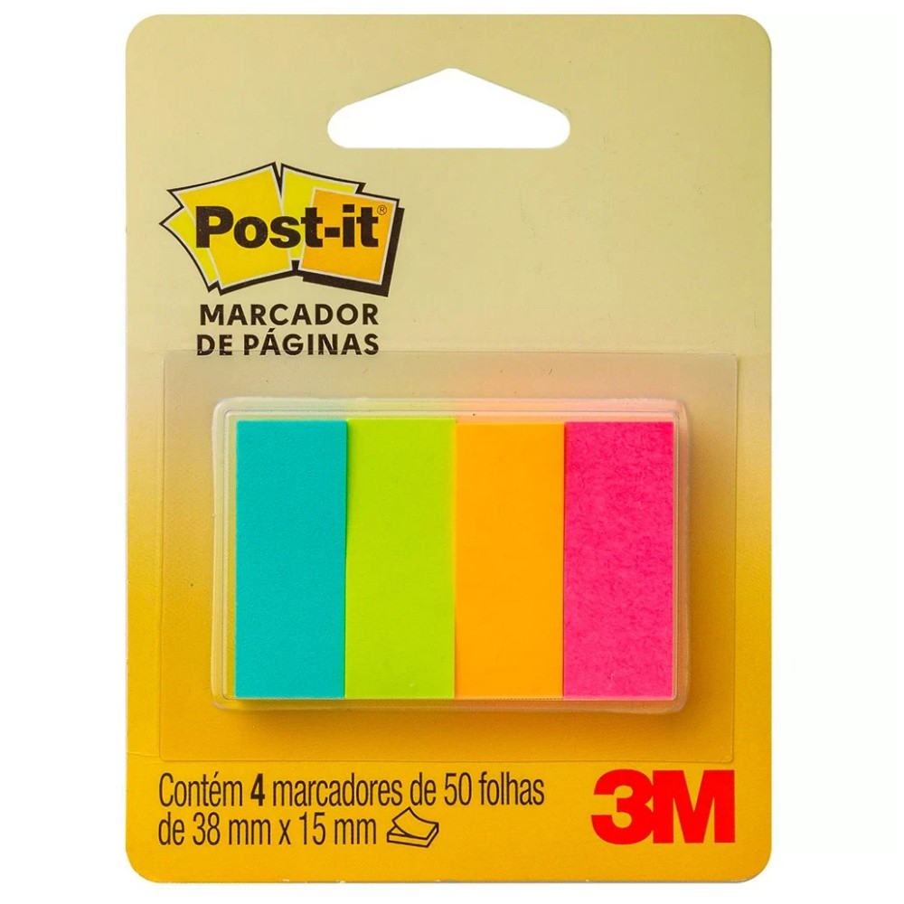 Marcador de Página de Papel Post-It® 3M 38x15 mm
