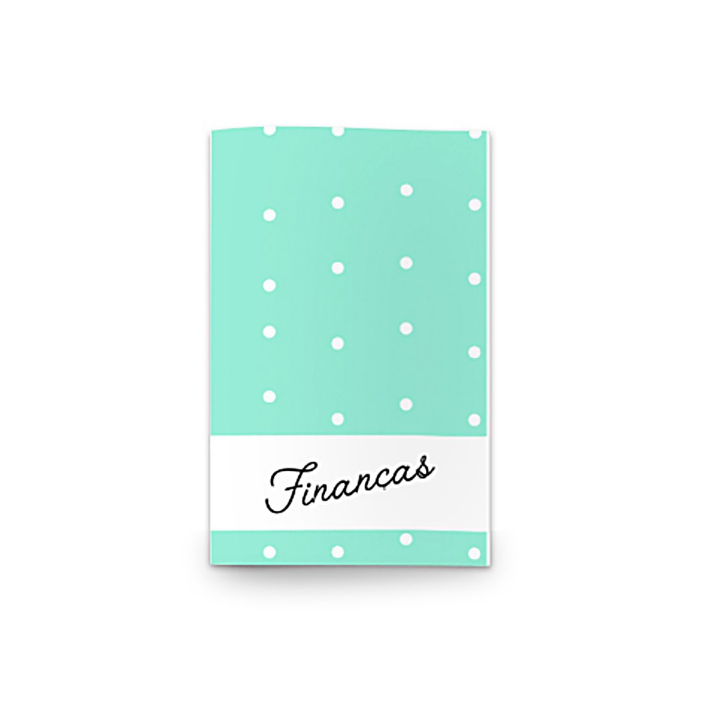 Planejador de Finanças EVERTOP Caderno Brochura