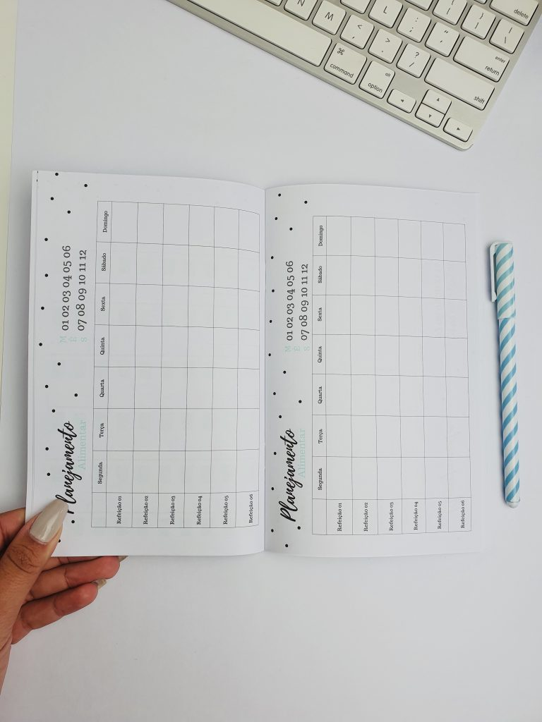 Planejador Fitness EVERTOP Caderno Brochura