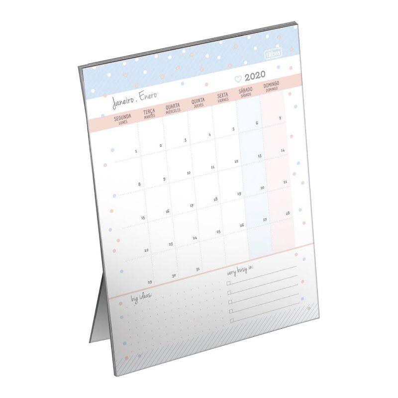 Planner 2020 Calendário de Mesa TILIBRA Soho