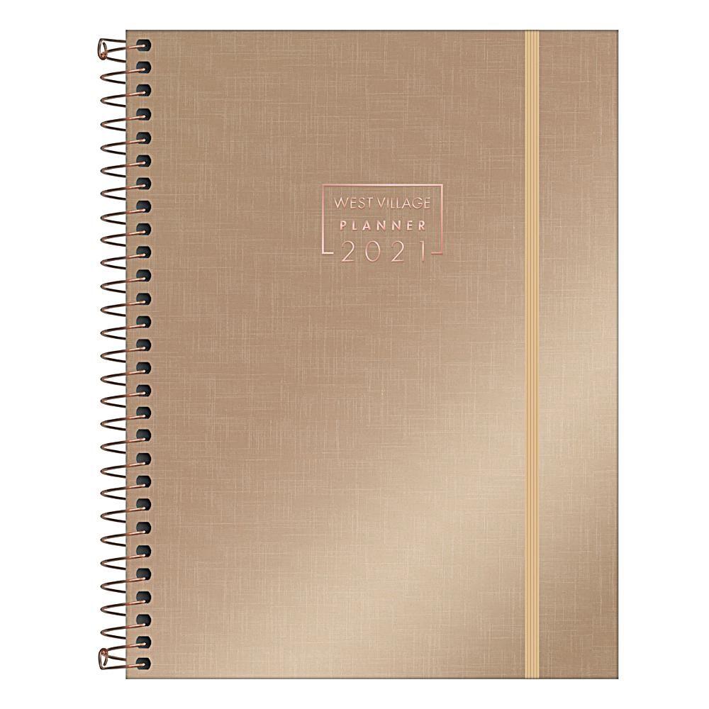 Planner 2021 TILIBRA West Village Metalizado 177 x 240 mm