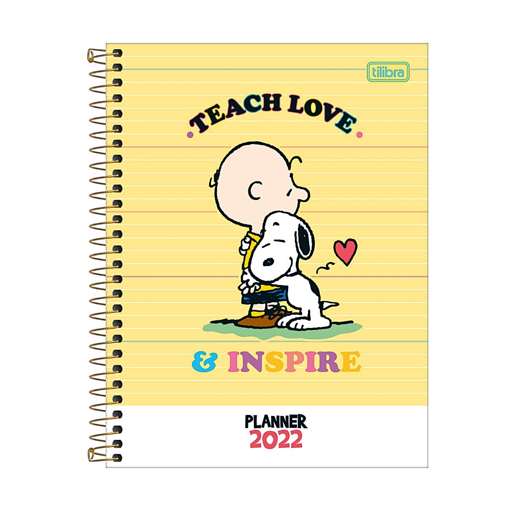 Planner 2022 TILIBRA Snoopy Espiral 17,7 x 24 cm