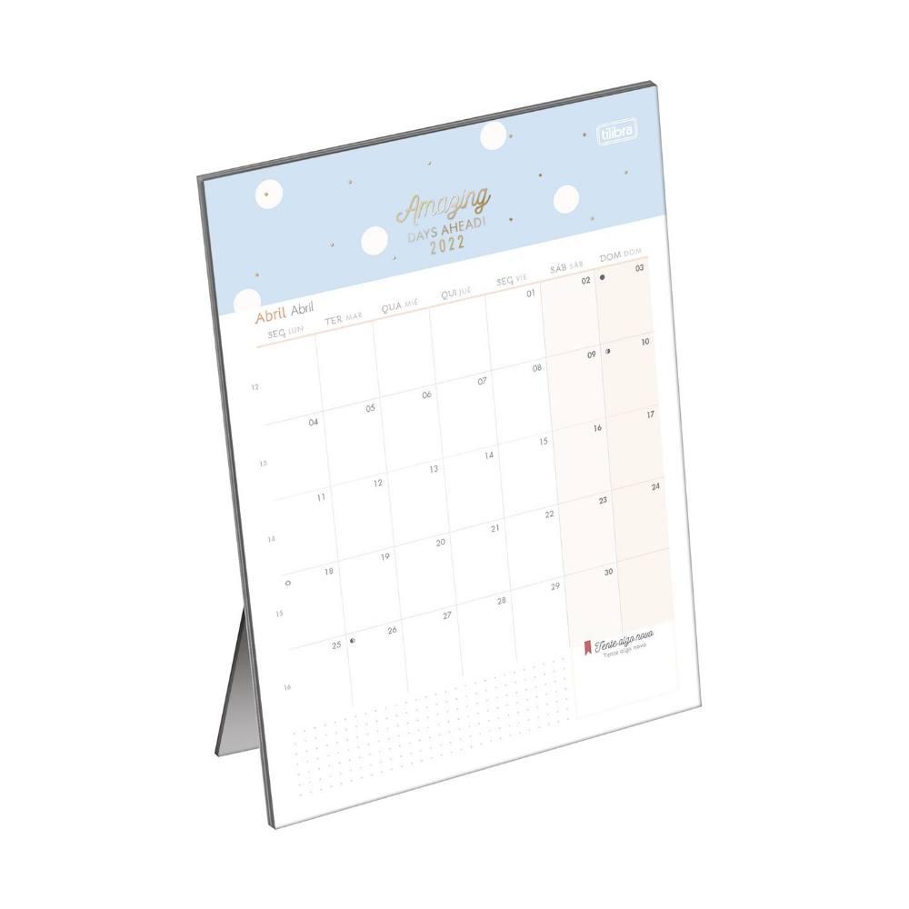 Planner Calendário de Mesa 2022 TILIBRA Soho 13,8 x 19 cm