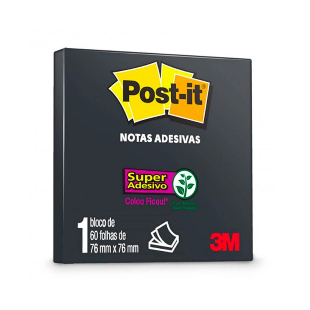 Post-It® 3M 76x76 mm c/ 60 Fls - Preto