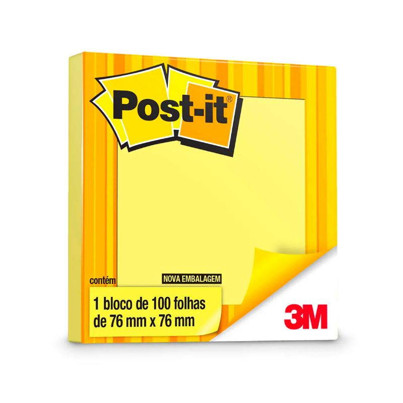 Post-it 76 x 76mm Amarelo - 100 Fls