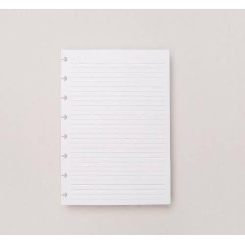 Refil Pautado Caderno Inteligente Grande + Disco Preto e Elástico