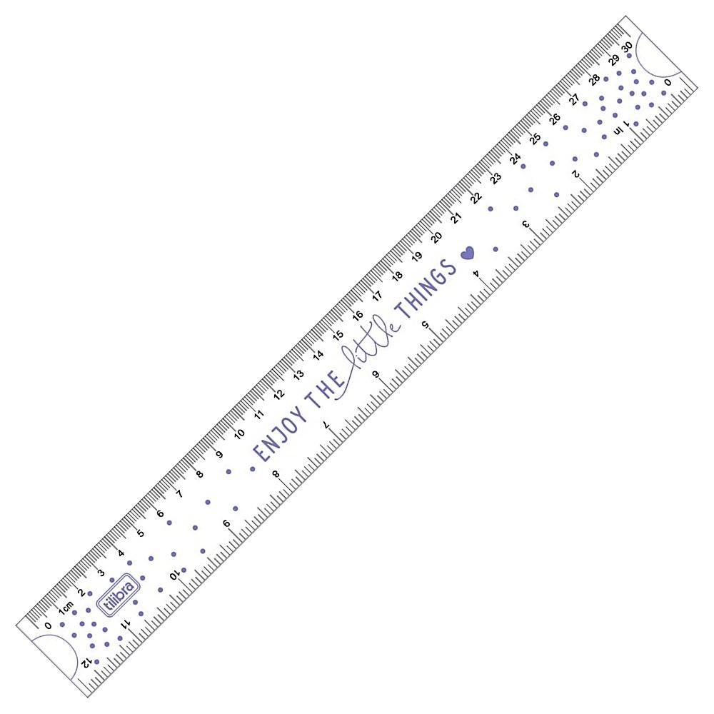 Régua Flexível TILIBRA 30cm Decorada