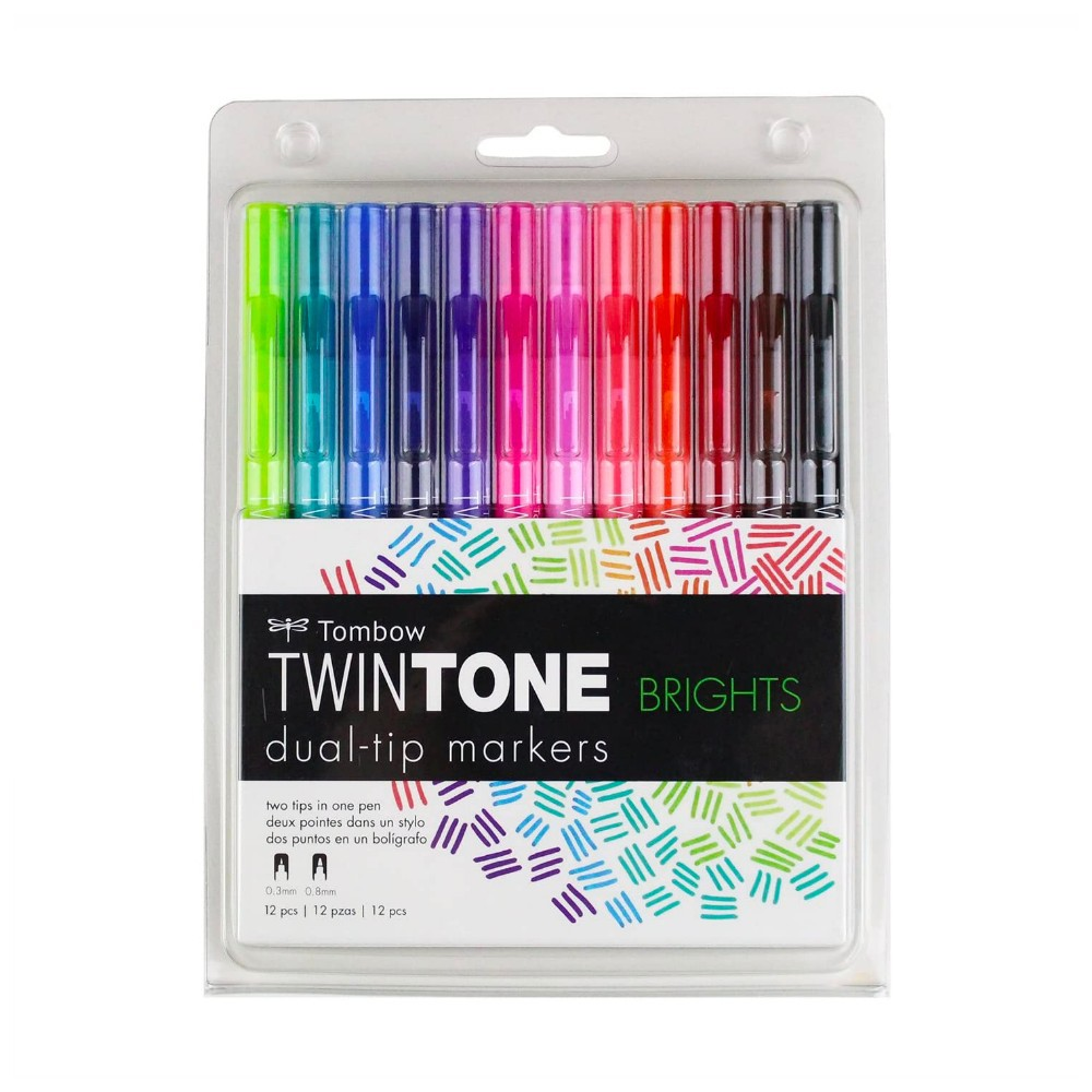TOMBOW Twintone Dual-Tip Markers c/ 12 Unds