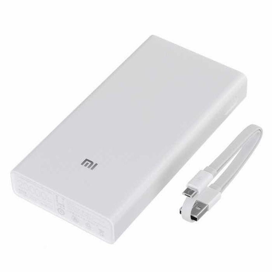 Carregador Portatil Powerbank Xiaomi MI 20000mah - Branco