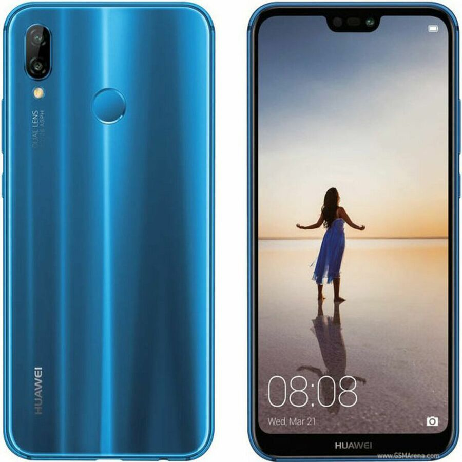Smartphone Huawei P20 lite 4GB Ram Tela 5.84 32GB Camera dupla 16+2MP - Azul