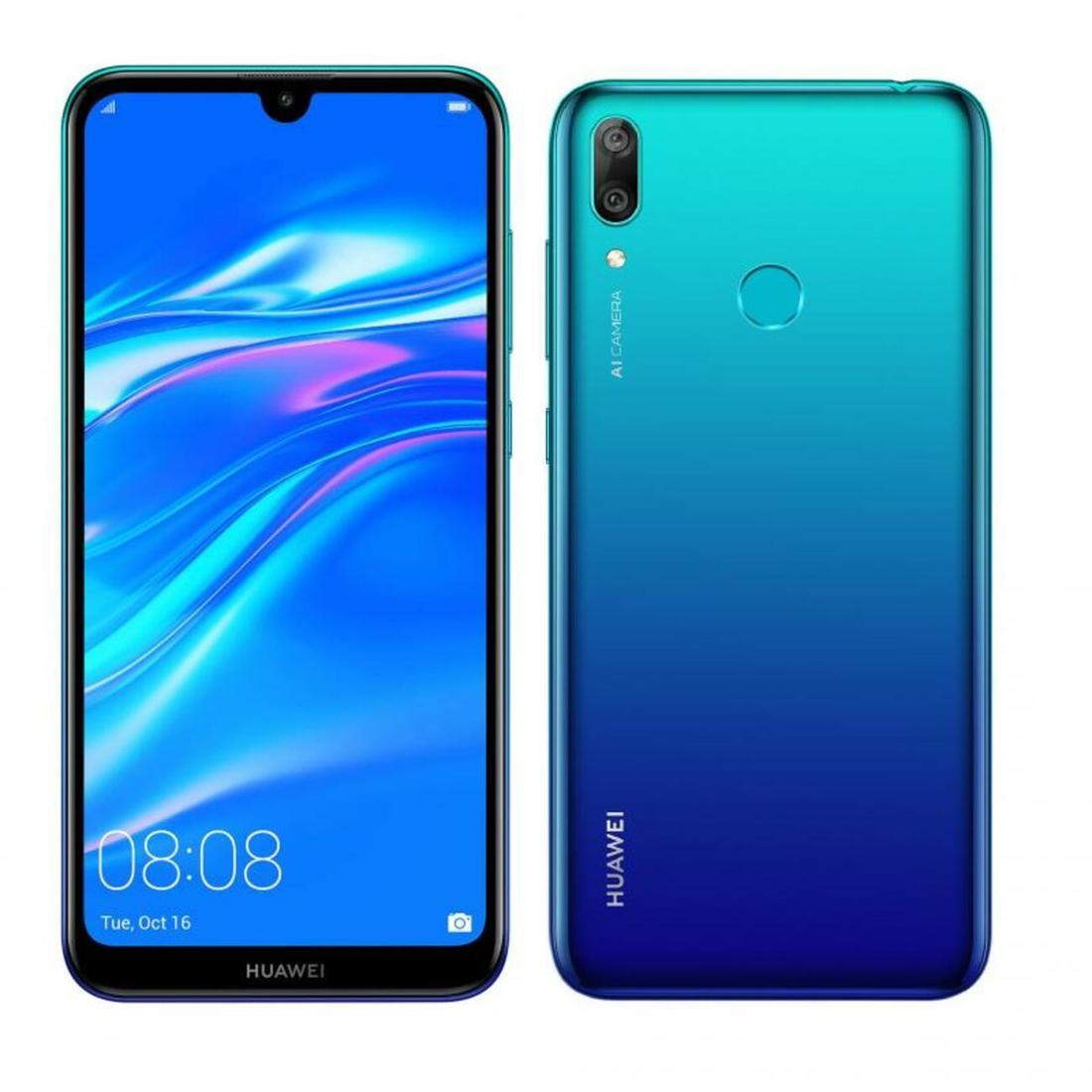 Smartphone Huawei Y7 2019 3GB Ram Tela 6.26 32GB Camera Dupla 13+2MP - Azul