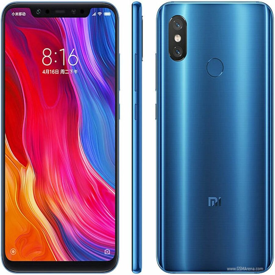 Smartphone Xiaomi Mi 8 6GB Ram Tela 6.21 128GB Camera Dupla 12+12MP - Azul