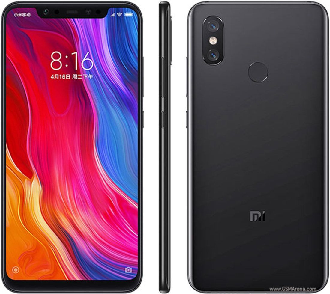 Smartphone Mi 8 6GB Ram Tela 6.21 128GB Camera Dupla 12+12MP - Preto
