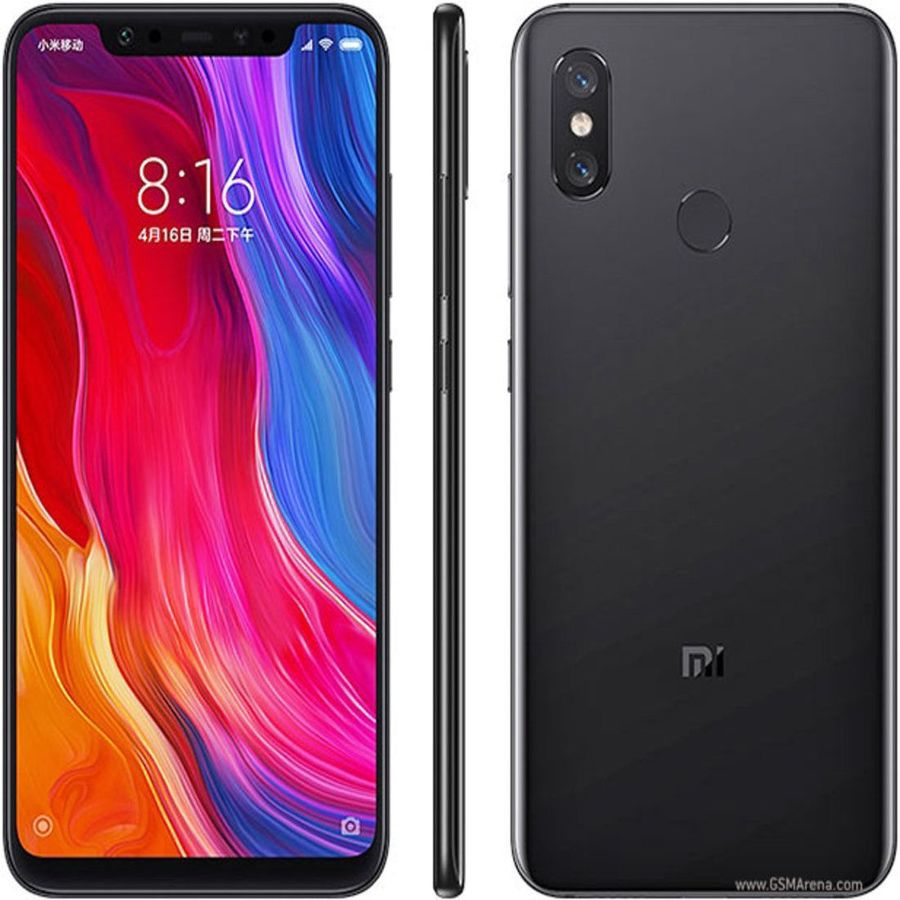 Smartphone Xiaomi Mi 8 6GB Ram Tela 6.21 128GB Camera Dupla 12+12MP - Preto