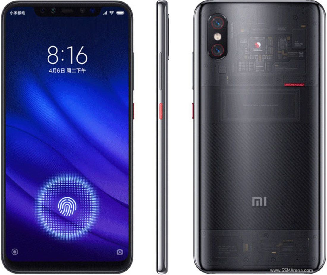 Smartphone Mi 8 Pro 8GB Ram Tela 6.21 128GB Camera Dupla 12+12MP - Transparente Preto