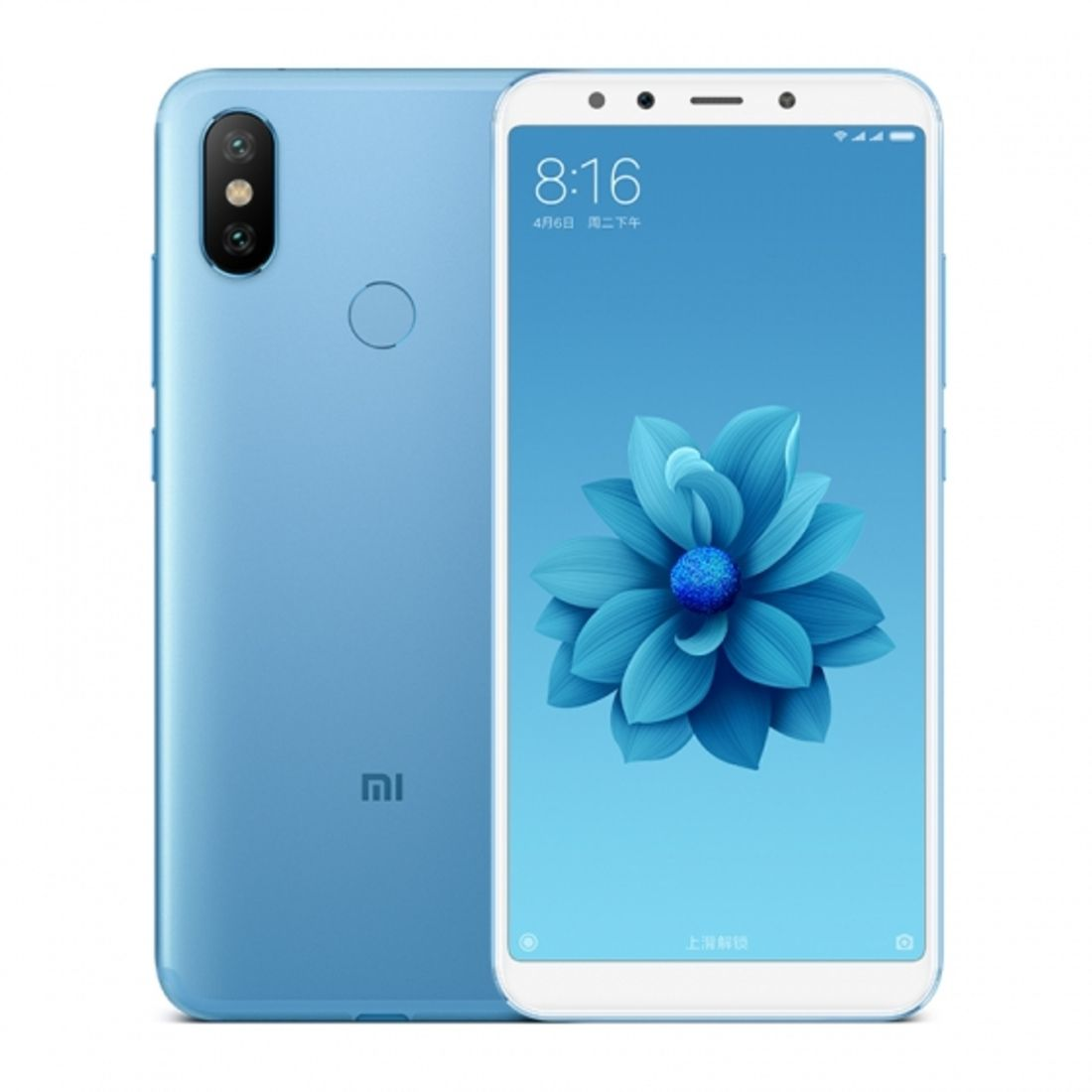 Smartphone Mi A2 4GB Ram Tela 5.99 64GB Camera Dupla 12+20MP - Azul