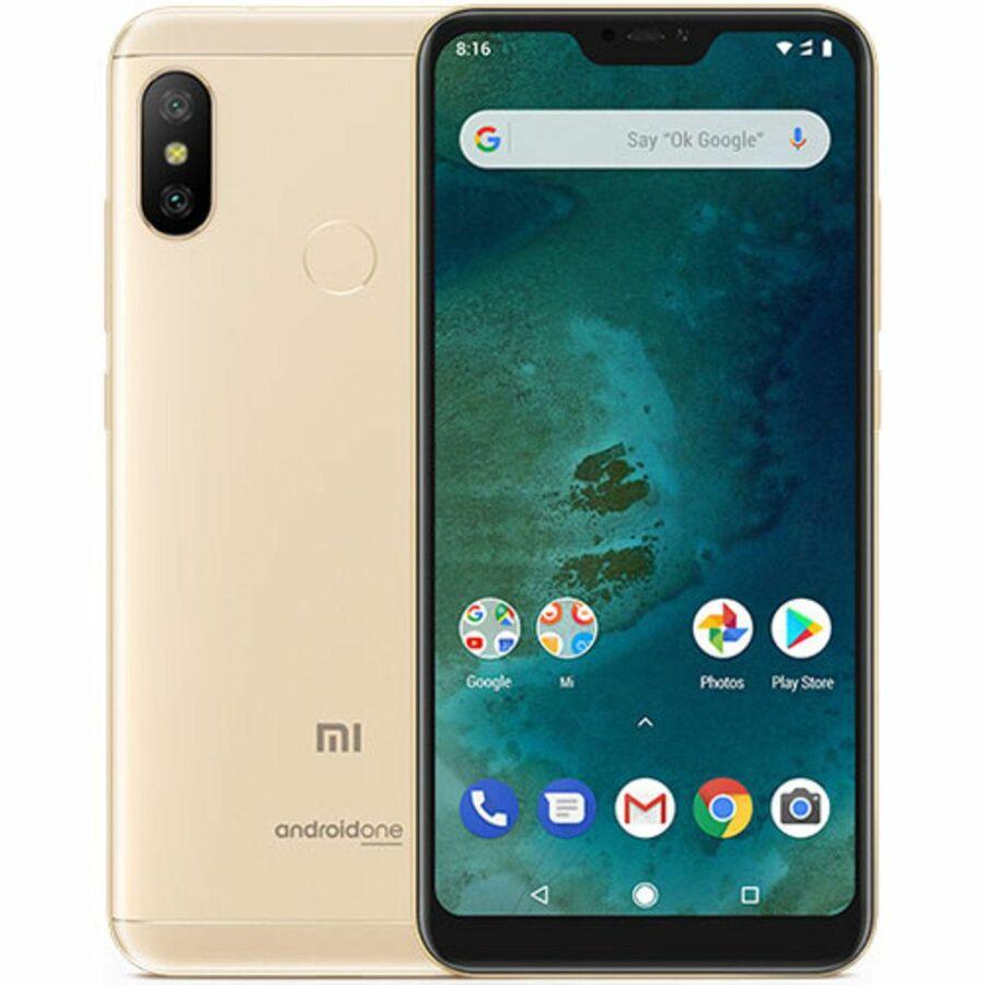 Smartphone Xiaomi Mi A2 Lite 3GB Ram Tela 5.84 32GB Camera Dupla 12+5MP - Dourado  - PAGDEPOIS