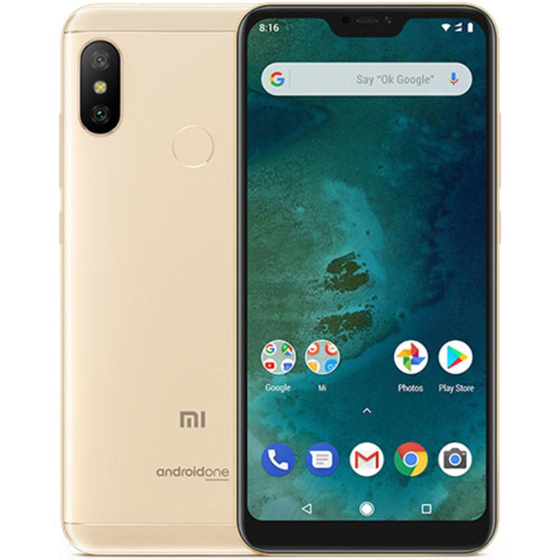 Smartphone Mi A2 Lite 4GB Ram Tela 5.84 64GB Camera Dupla 12+5MP - Dourado