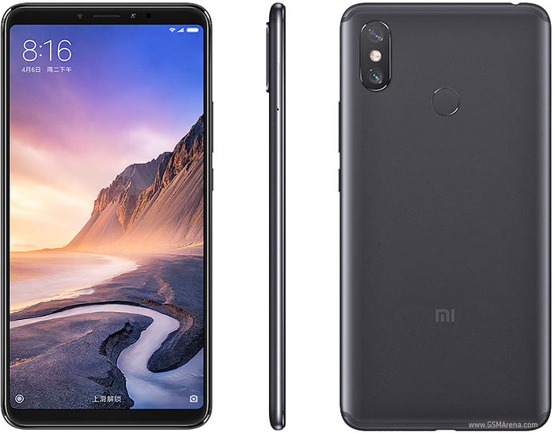 Smartphone Mi Max 3 4GB Ram Tela 6.9 64GB Camera Dupla 12+5MP - Preto