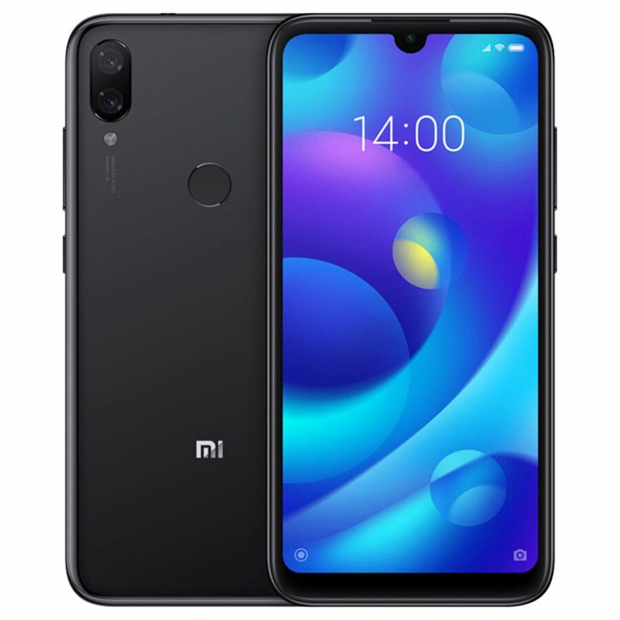 Smartphone Xiaomi Mi Play 4GB Ram Tela 5.84 64GB Camera Dupla 12+12MP - Preto