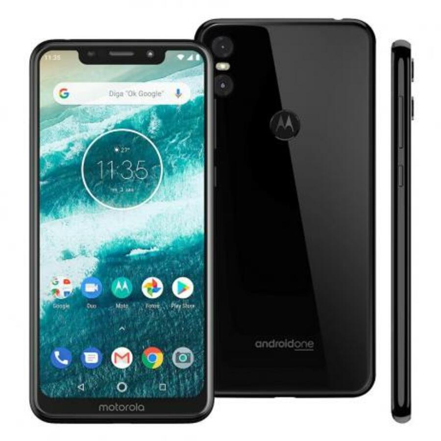 Smartphone Motorola One 3GB Ram Tela 5.9 32GB Camera Dupla 13+2MP - Preto  - PAGDEPOIS