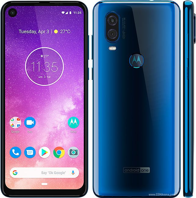 Smartphone Motorola One Vision 4GB Ram Tela 6.3 128GB Camera Dupla 48+5MP - Azul Safira