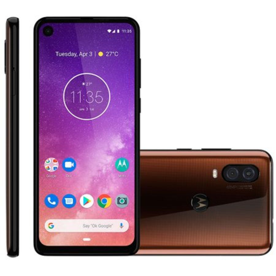 Smartphone Motorola One Vision 4GB Ram Tela 6.3 128GB Camera Dupla 48+5MP - Bronze  - PAGDEPOIS