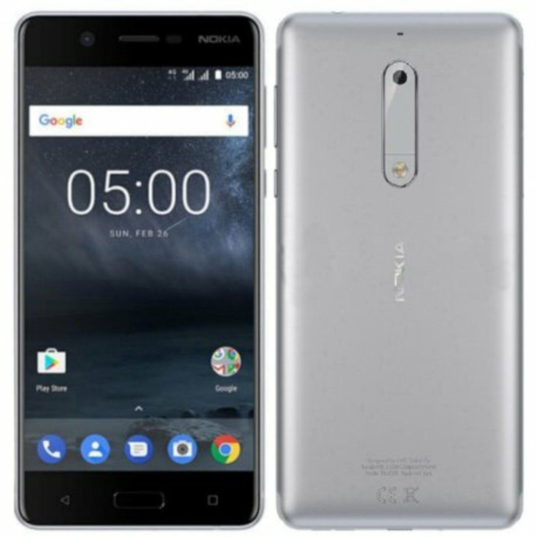 Smartphone Nokia 5 2GB Ram Tela 5.2 16GB Camera 13MP - Prata  - PAGDEPOIS